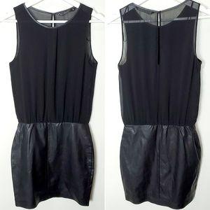 Zara TRF Faux Leather Bottom Dress